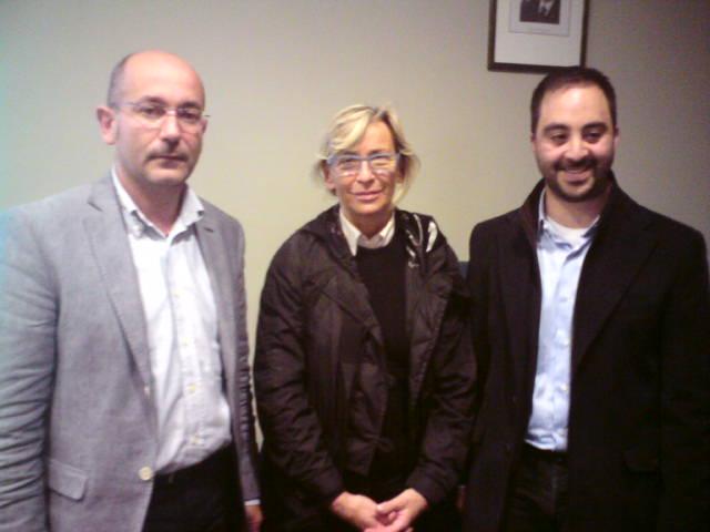 Domenico Pellei, organizzatore del convegno di Fides Vita, l'assessore Margherita Sorge e l'altro organizzatore Andrea Consorti