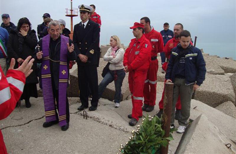 Naufragio del Diana Madre, cerimonia commemorativa al porto di Giulianova