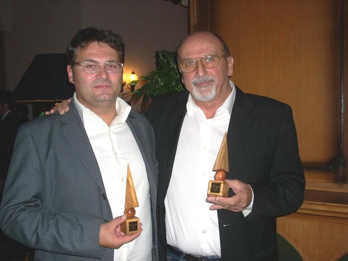 Qoll, il nostro direttore Nazzareno Perotti con l'editore di Targatocn.it, Enrico Anghilante