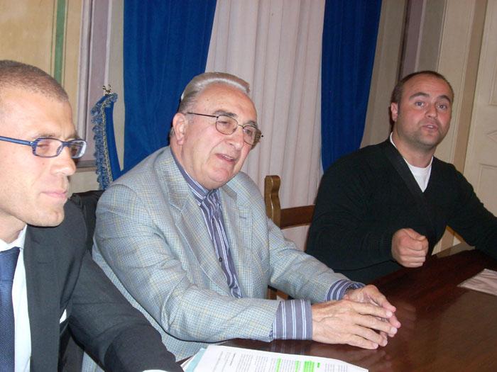 Acquaviva, da sinistra A. Infriccioli, T. Infriccioli. e F. Sgariglia