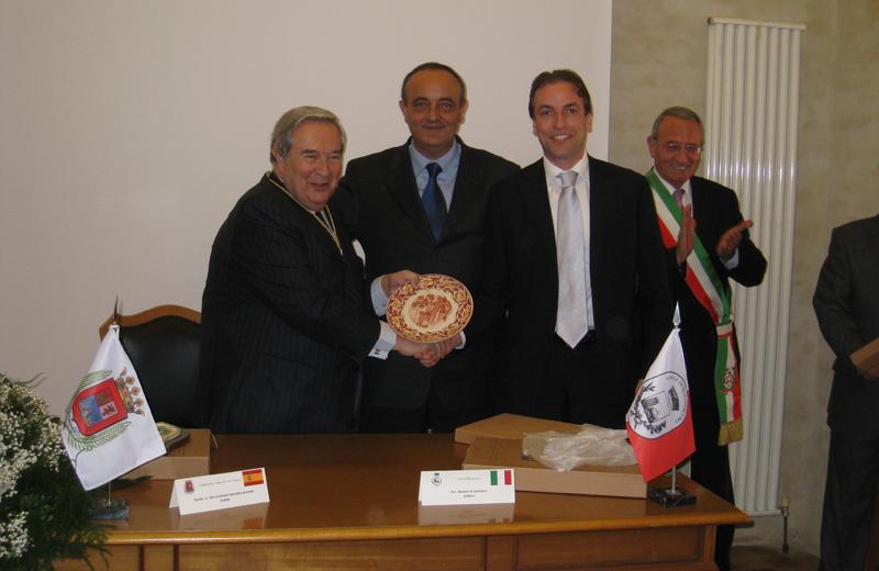 Jerónimo Saavedra Acevedo, Ezio Vannucci, Massimo Vagnoni e Abramo Di Salvatorevatore