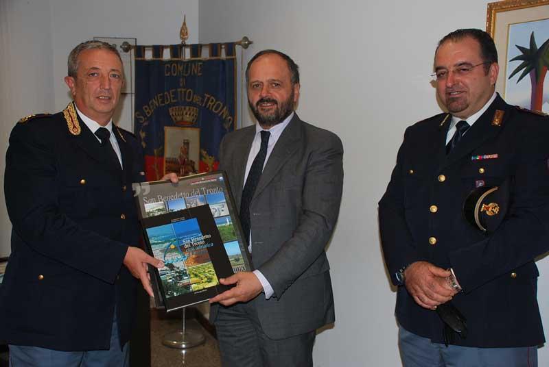Collina e Ioannone della Polstrada in visita istituzionale dal sindaco Gaspari