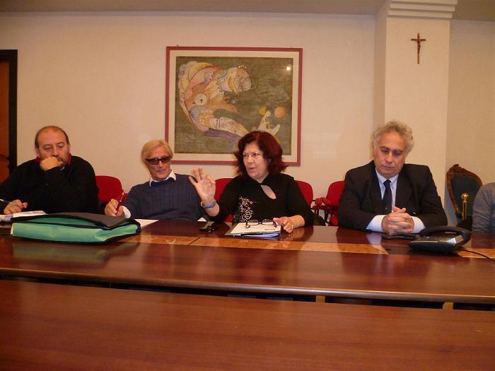 Al centro Graziella Castelletti e Bruno Bruni con gli assessori Aliberti e Anonini
