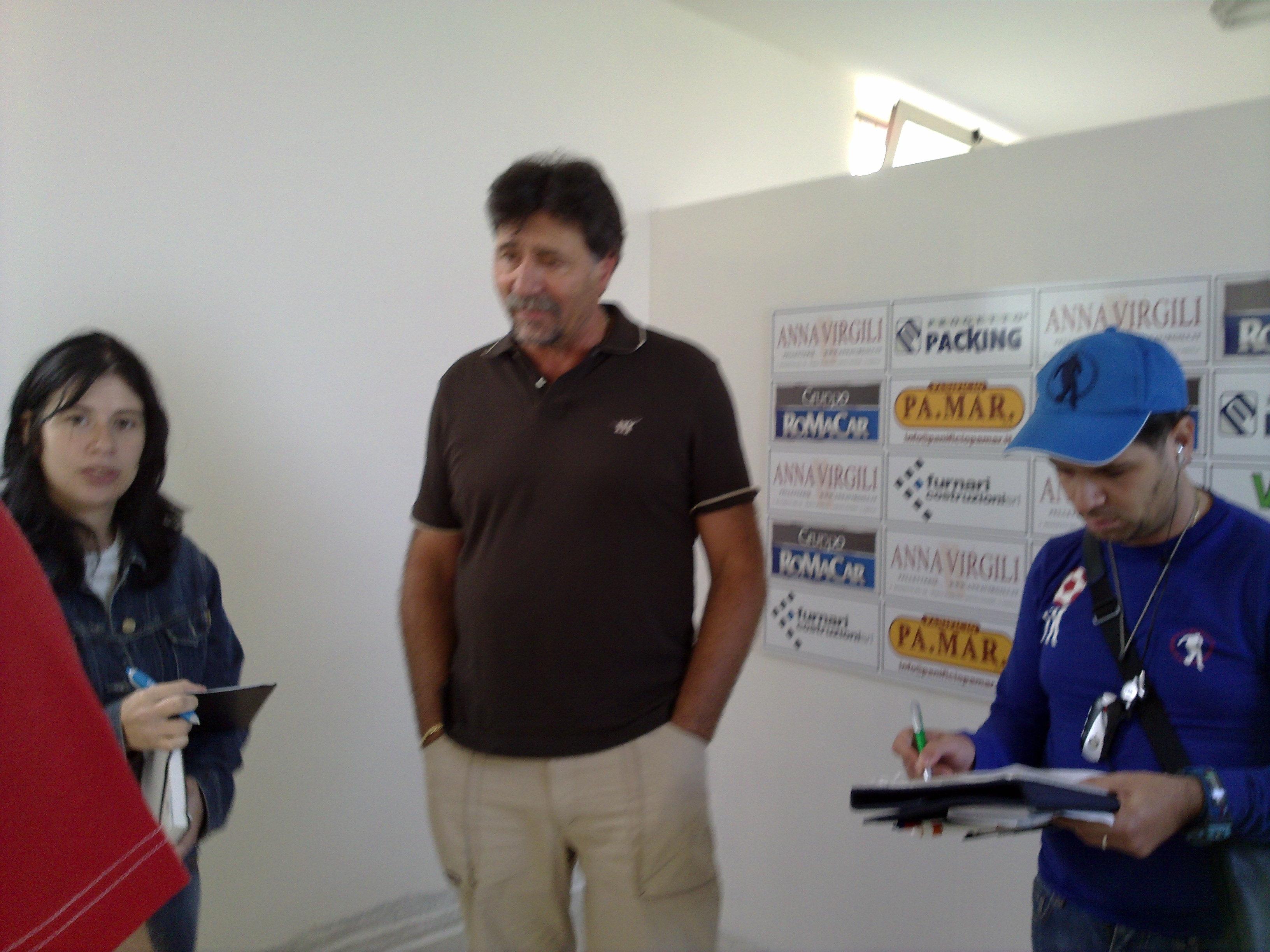 Pino Aniello in sala stampa