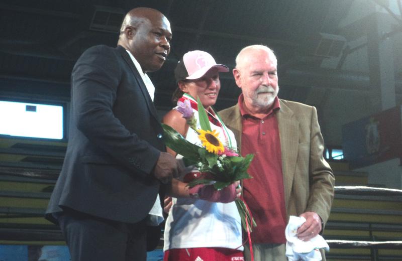 Boxe femminile: la premiazione di Giada Landi