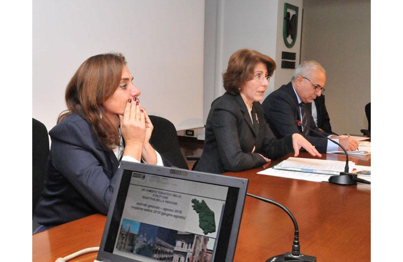 Flavia Maria Coccia, l'assessore regionale Moroder e il dirigente Abelardi