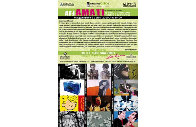 Locandina della mostra d'arte contemporanea