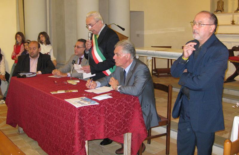 Da sinistra Andrea Maria Antonini, Mauro Tosti Croce, Tarcisio Infriccioli, Piero Celani, Teodorico Compagnon