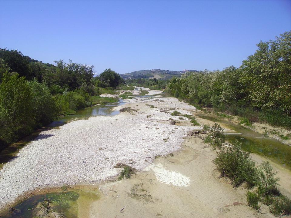 Il letto del fiume Tesino (Foto da wikipedia)