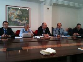 Bruno Gabrielli, Giulio Natali, Emidio Tostiguerra, Giuseppe Mercuri e Pasqualino Piunti