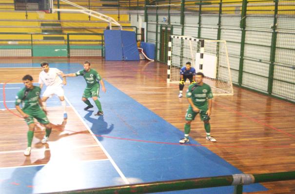 Una fase di gioco tra Futsal Samb e Casinò Venezia
