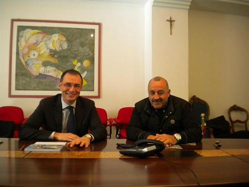 Bruno Gabrielli (a sinistra) e Igino Cacciatori