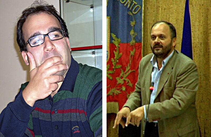 Giorgio Mancini di Sel in questo fotomontaggio pare guardare perplesso un energico sindaco Gaspari