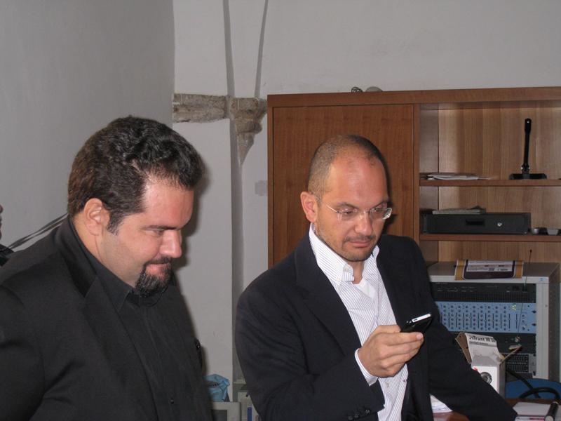 Il consigliere provinciale Raffaele Rossi ad Ascoli 2.0 con il sindaco Guido Castelli