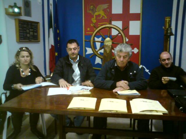 Da sinistra: Annamaria Isita, Emidio Del Zompo, Giuseppe Ricci, Domenico Ricci