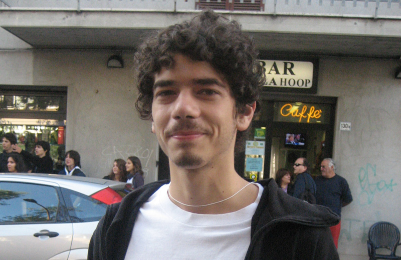 Manifestazione studentesca a San Benedetto, 8 ottobre 2010: Daniele Lanni