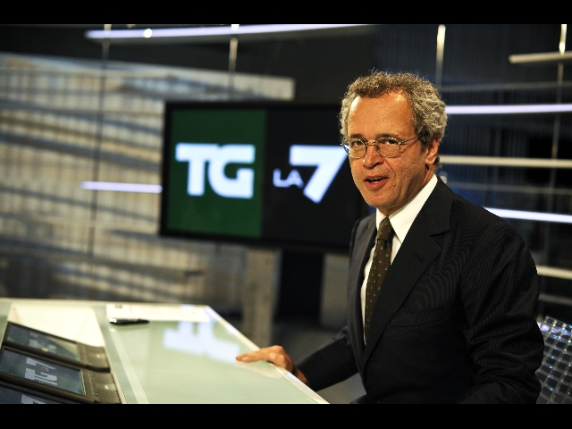 Enrico Mentana, direttore del Tg La7