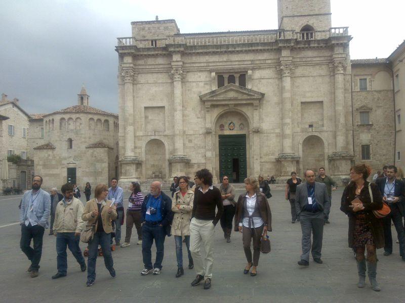 Press tour ad Ascoli per le testate finaliste del Qoll Festival