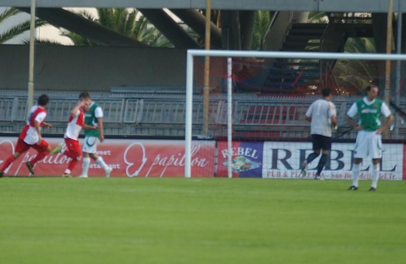 Lima a vuoto guarda l'entusiasmo di Casolla, autore dello 0-1 del Real Rimini (Troiani)