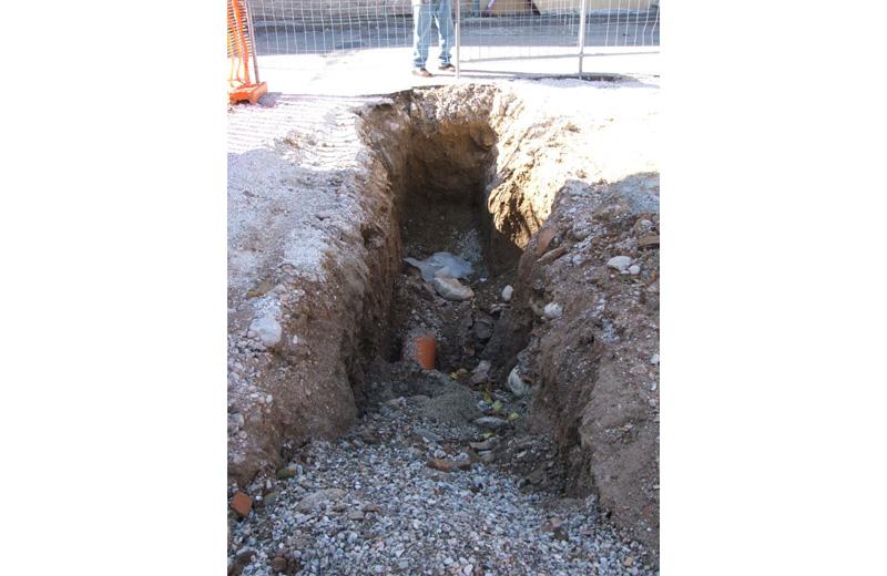 Reperti archeologici trovati durante gli scavi al Paese Alto di San Benedetto