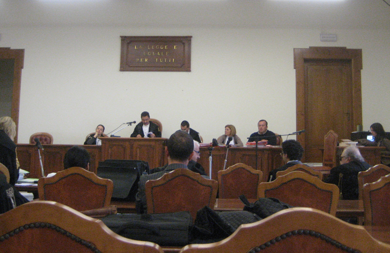 Rita Evelin, prima udienza del processo al Tribunale di Fermo, 27 ottobre 2010