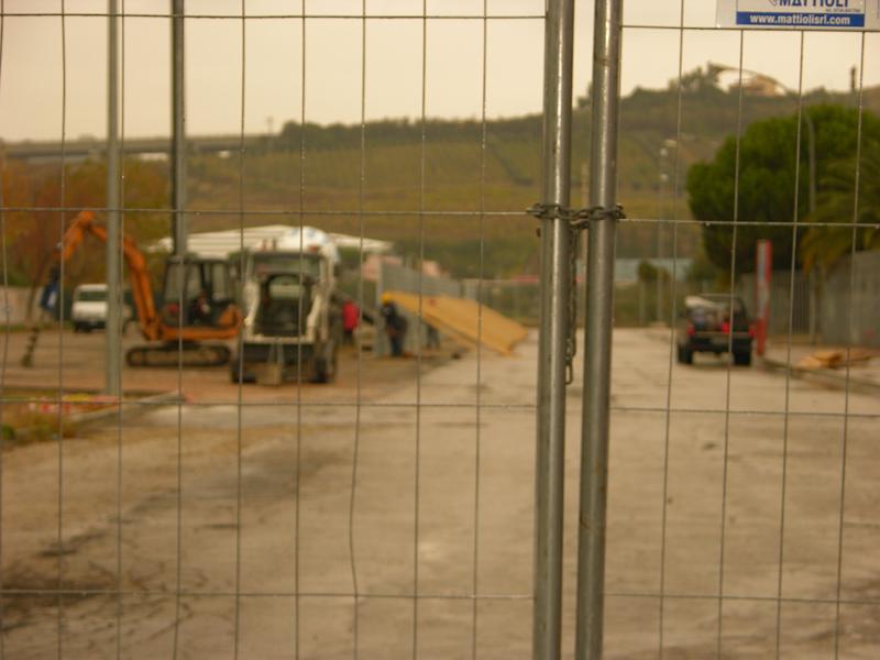 Riviera delle Palme, lavori curva sud, ottobre 2010