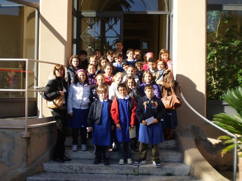 La 5A in visita a Palazzo Ravenna intervista il sindaco Merli
