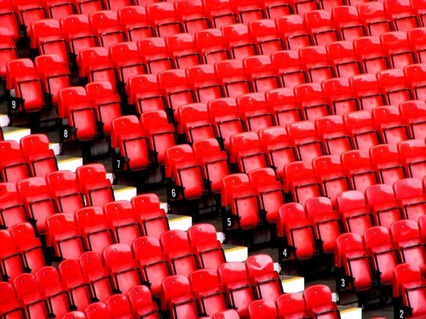 Seggiolini all'Old Trafford di Manchester