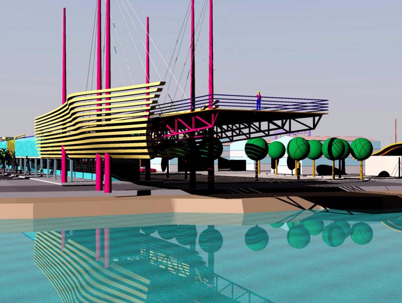 Nei disegni forniti dal Comune, ecco alcune progettualità possibili per il porto di San Benedetto