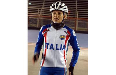 Simona Di Eugenio in una delle gare ai Mondiali di Pattinaggio in Colombia