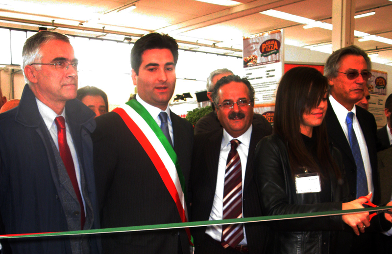 Inaugurazione Tech and Food: da sinistra Canzian, Stracci, Merlonghi e Perazzoli