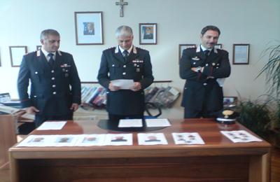 Da sinistra: il Maresciallo L.Daddabbo, il Cap. G.Vaccarini, il Cap.A. Di Lena