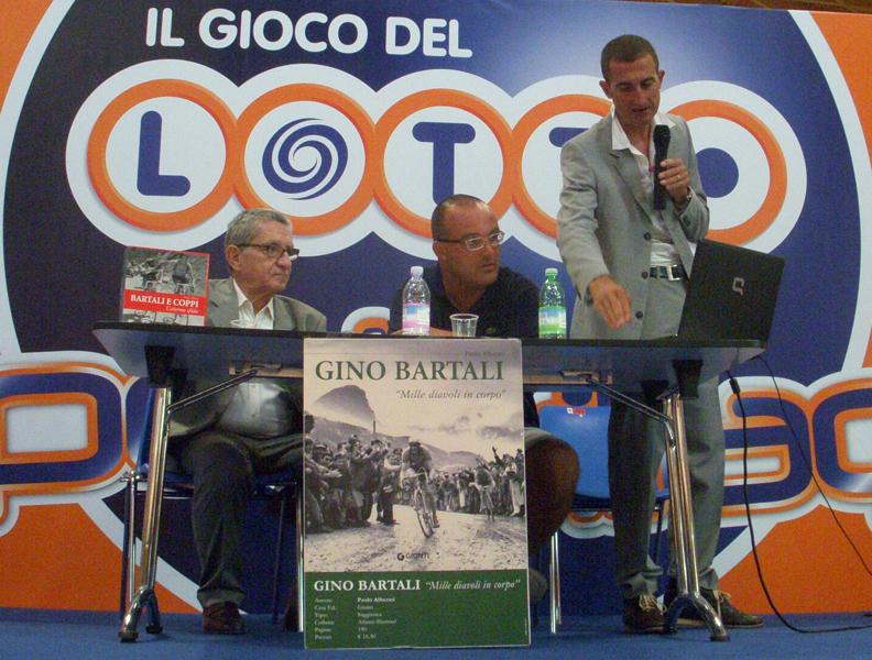 Il Presidente della Gagliarda Sambenedettese Andrea Falcioni al Meeting di Rimini, tra Andrea Bartali e Paolo Alberati