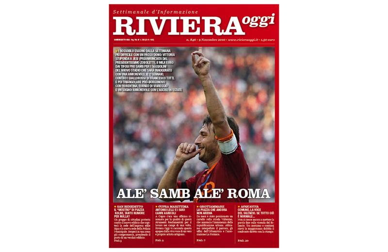 Riviera Oggi numero 846, la copertina per l'edizione di San Benedetto