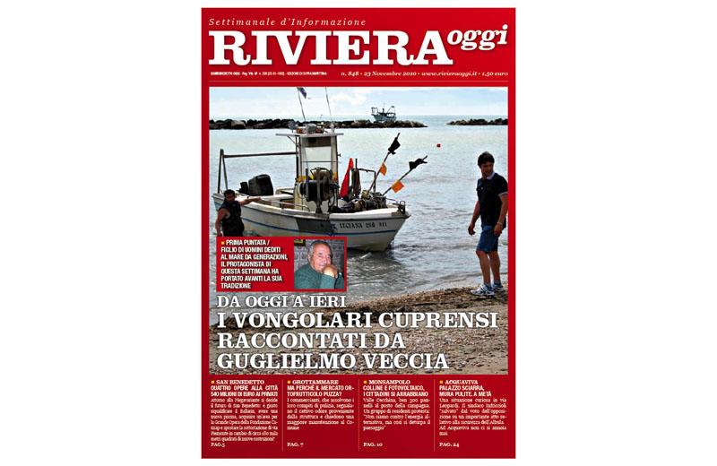 Riviera Oggi numero 848, la copertina per le edicole di Cupra Marittima