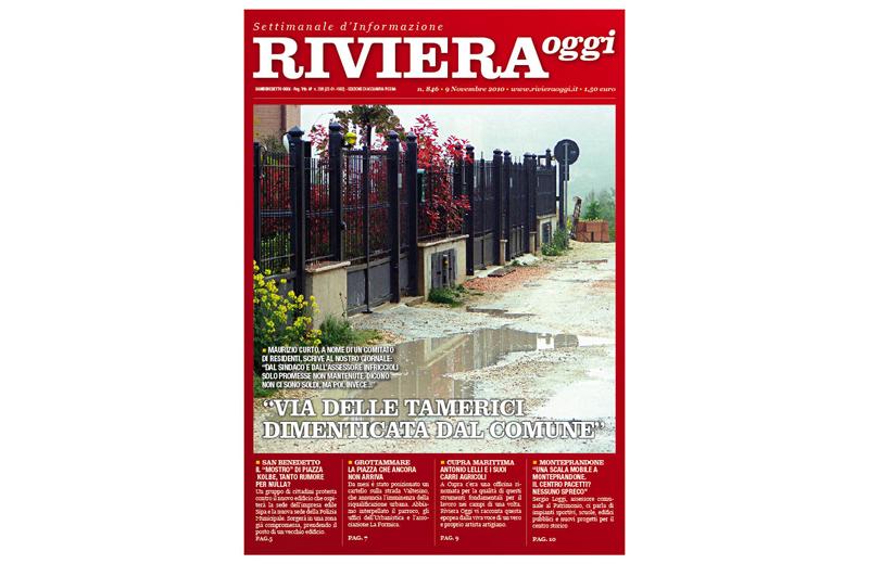 Riviera Oggi numero 846, la copertina per l'edizione di Acquaviva Picena