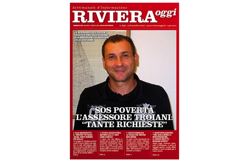 Riviera Oggi numero 846, la copertina per l'edizione di Monteprandone