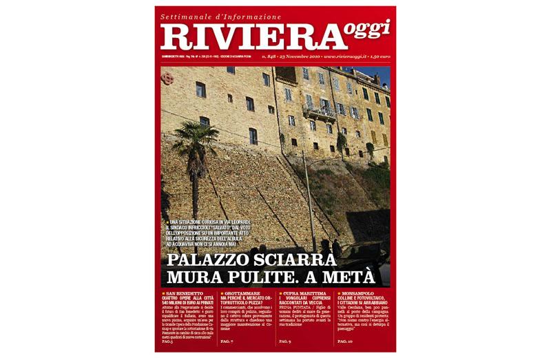 Riviera Oggi numero 848, la copertina per le edicole di Acquaviva