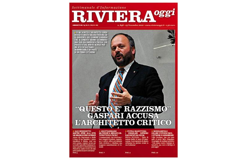 Riviera Oggi numero 848, la copertina per le edicole di San Benedetto