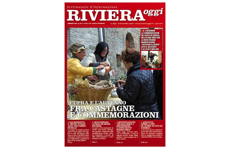 Riviera Oggi numero 846, la copertina per l'edizione di Cupra Marittima
