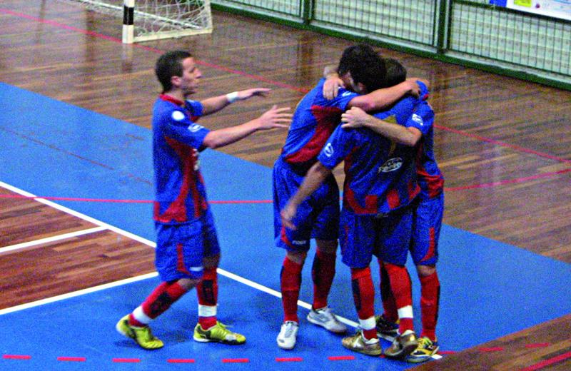 I giocatori della Futsal Samb