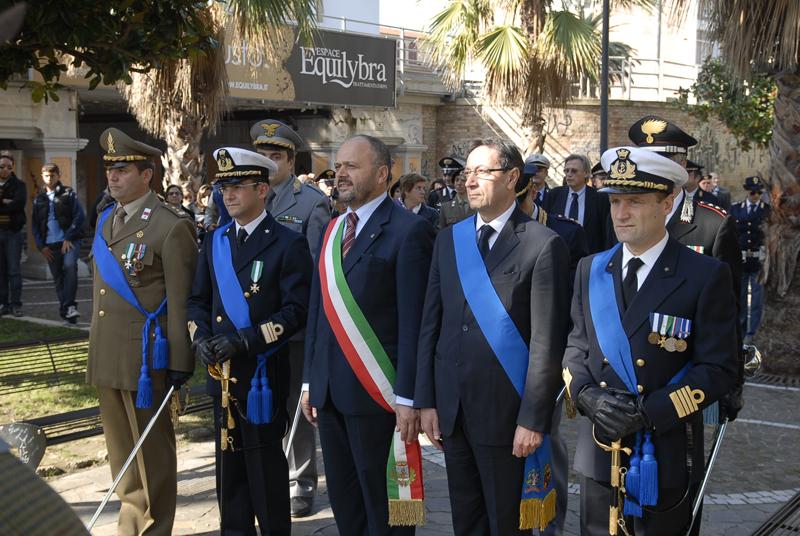 Cerimonia del 4 novembre 2010, Gaspari e Piunti (foto Domenico Braccetti)