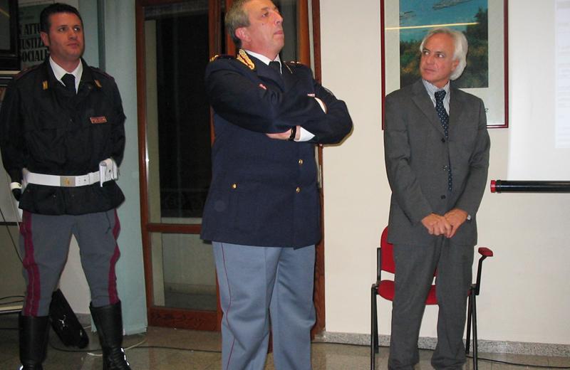 Giorgio Fiori e le Forze dell'ordine