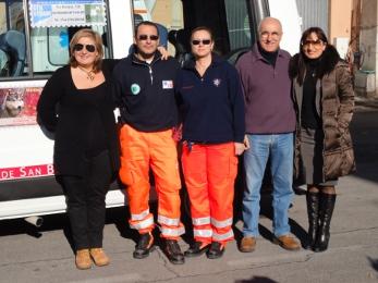 Alcuni collaboratori con Iano Verdecchia e Alda Sabina Antolini