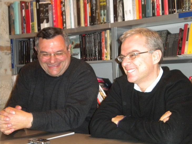 Daniele Luchetti (a destra) con Don Giampiero Cinelli del Circolo di Monticelli