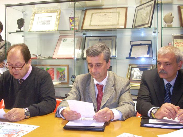 Partito della Nazione, da sinistra Santori-Corradetti-Orlandi