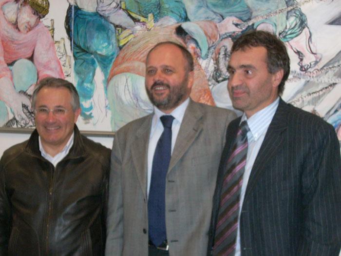 Da sinistra Ciccanti, Gaspari e Lorenzetti in una foto dello scorso novembre