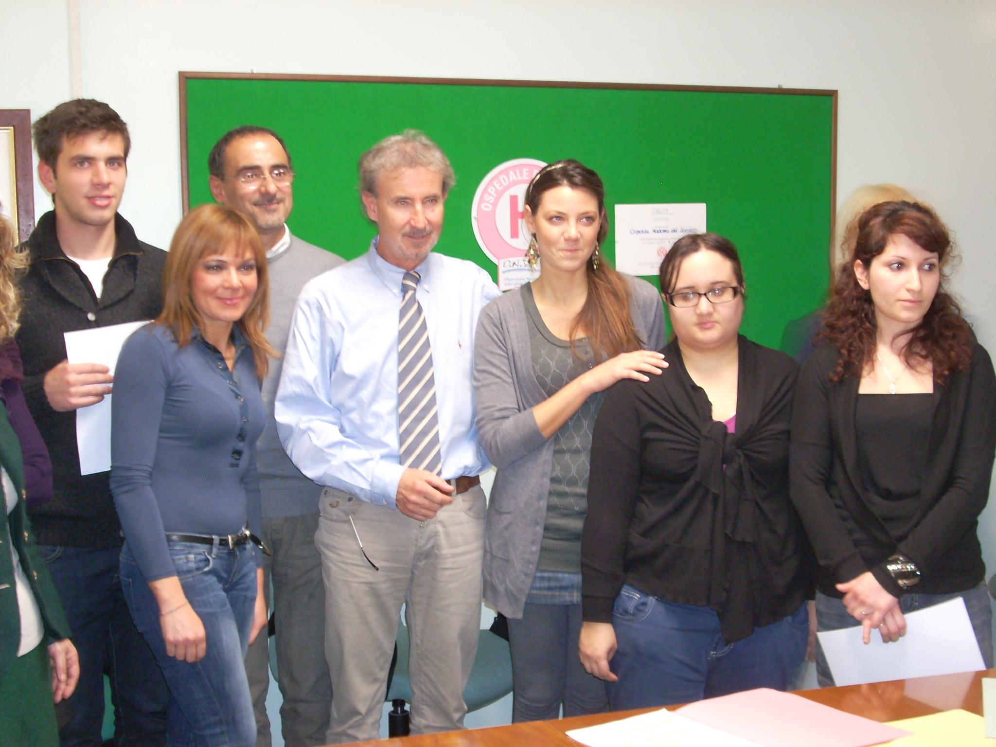 Servizio Civile, i quattro giovani con il direttore Novelli