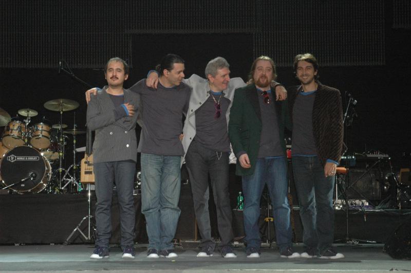 Anna Oxa al Ventidio Basso di Ascoli: i musicisti (foto Troiani)