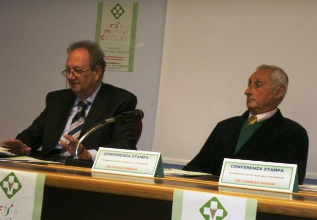 Da sinistra il Dr. Paolo Corchia e il Dr. Charles Camille Assouad